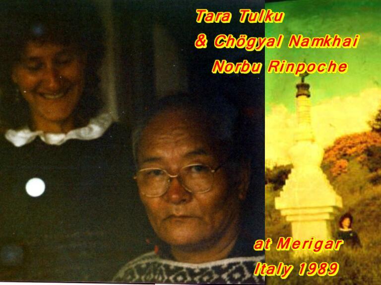 With Namkhai Norbu Rinpoche in Merigar June 1989