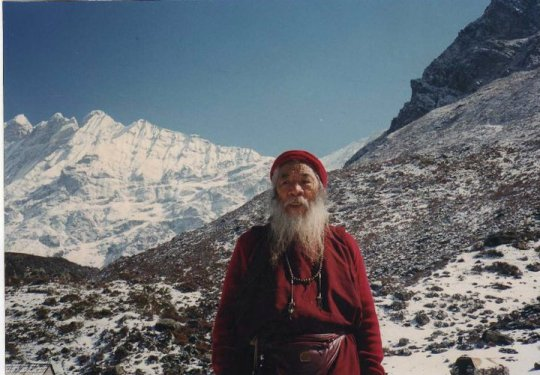 Chatral Rinpoche in mountains