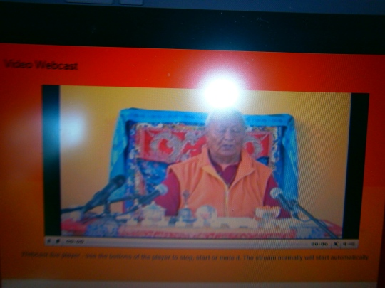 Chogyal Namkhai Norbu Rinpoche on open webcast