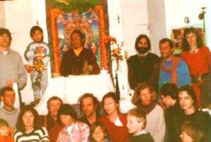 Lho Ontul Rinpoche & students at Dream yoga retreat in Austria