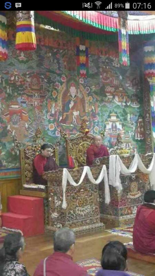 Dzongsar Khyentse Rinpoche & Dudjom Rinpoche at Rinchen Terdzo Btuna 2016