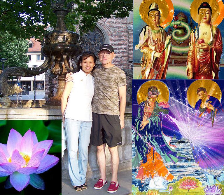 Mangala &his beloved wife Holly Shaohong  Namo Amitabha Buddha