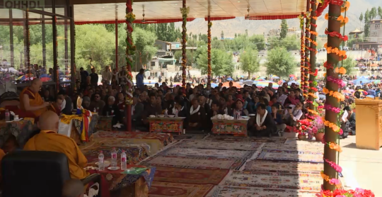 Dalai Lamsa 83rd birthday in Lhadak