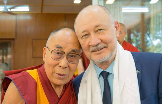 Sky Way Anatoliy Y and HH the Dalai lama 2017